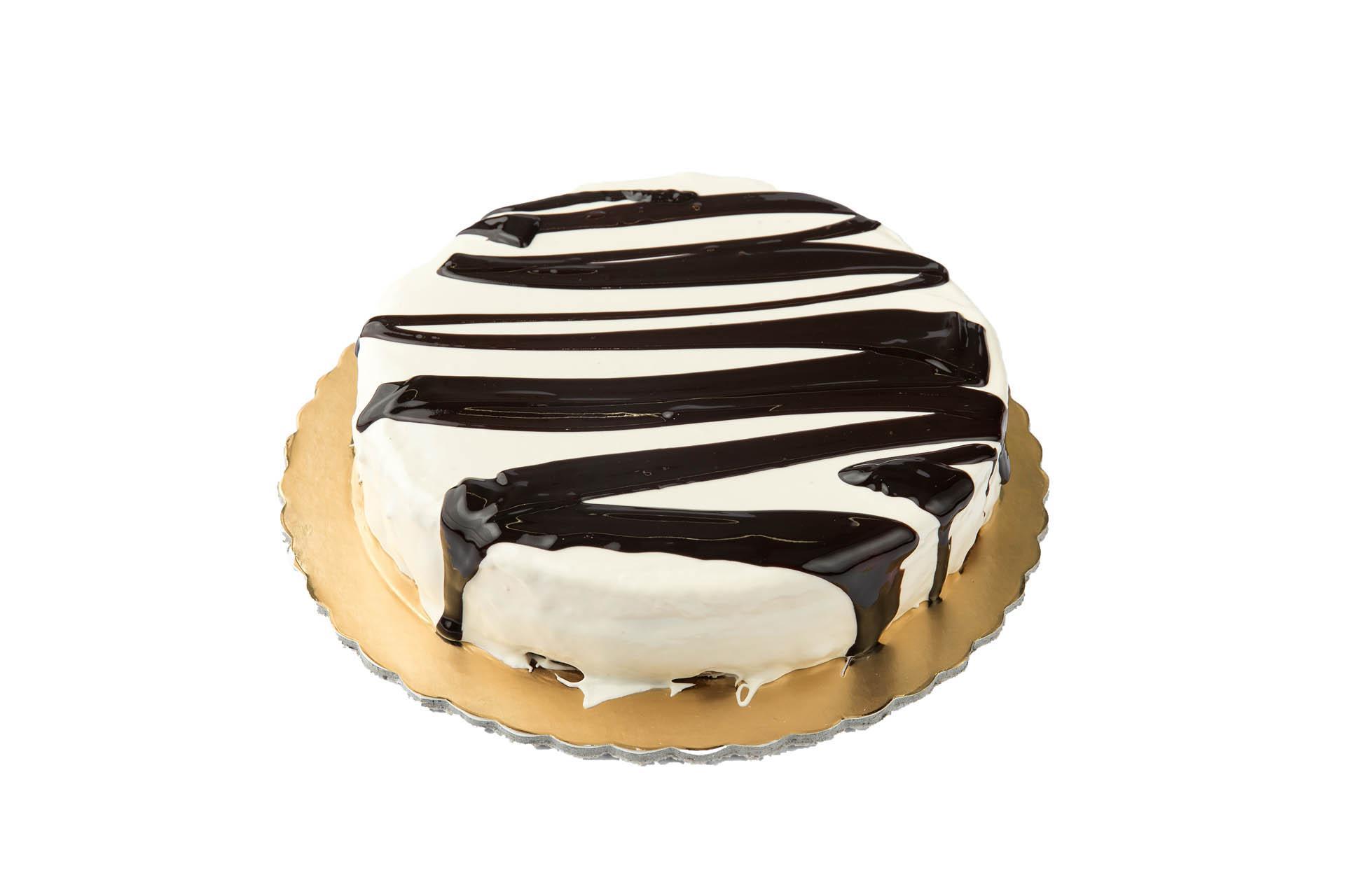 white zebra cake
